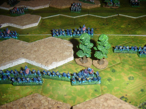 Union assault en masse on right flank