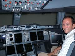 In the cockpit of an A380 Simulator (Somerville Media) Tags: singapore producer changiairport journalist cameraman singaporeairlines cameracrews gregsomerville somervillemedia singaporefreelancecameraman singaporecameraman singaporecorporatevideo singaporecameracrews