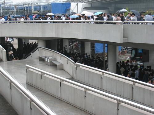 Suite de la queue pour le Tokyo Game Show 2008