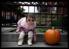 (UrbanDorothy) Tags: life autumn portrait urban favorite fall sunglasses brooklyn pumpkin living toddler rockstar elise expression daughter posing ellie boa website faves hip 2008 legwarmers gemini brooklynite bk daytoday homestudio lifeinbrooklyn myeverydaylife personalfavorites kgp brooklynlife bkln photopetit elisecolette kristinagibbphotography