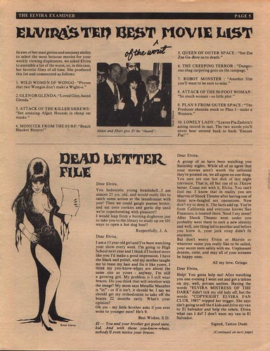 The Elvira Examiner volume III page 5