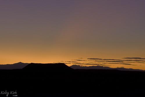 Amboy Crater & Sunset