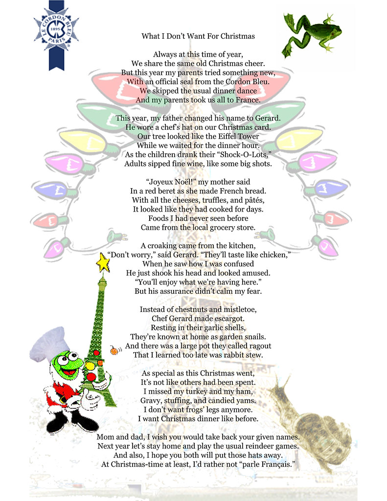 What I Don39;t Want For Christmas, Christmas Poem