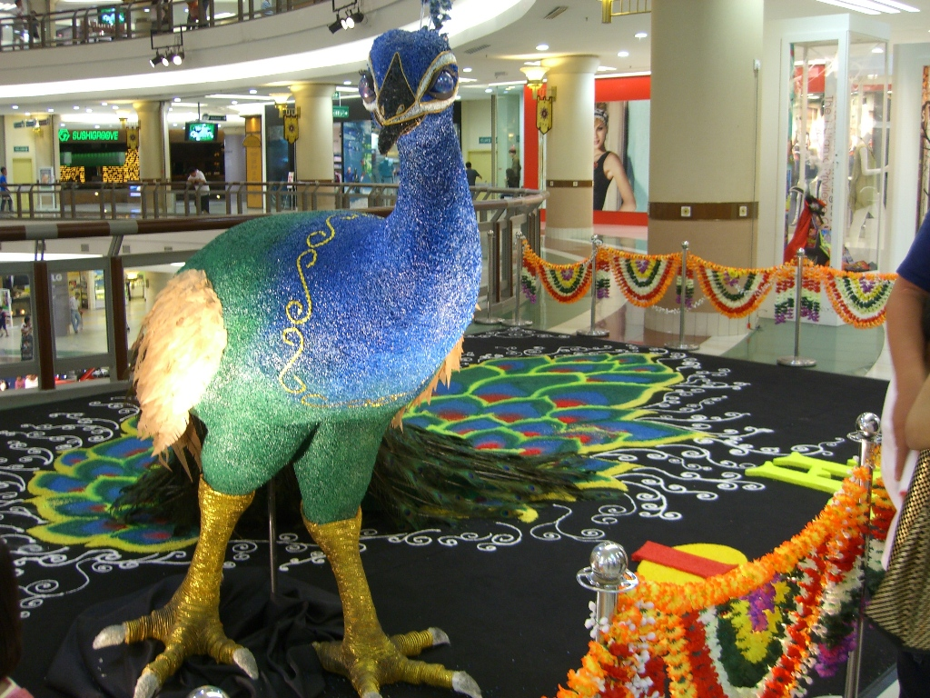 Deepavali Peacock Kolam