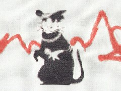 Cross stitch - Banksy