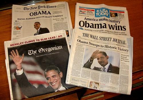 The headlines on November 5, 2008