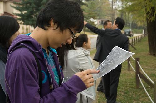 Koreans study Yongsan architecture