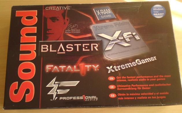 Creative: Sound Blaster X Fi XtremeGamer Fatal1ty Pro Series (bei Titanium su Champion)