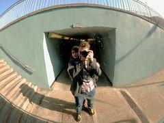 Mirror (Norkrainian) Tags: selfportrait reflection london underground mirror couple fisheye
