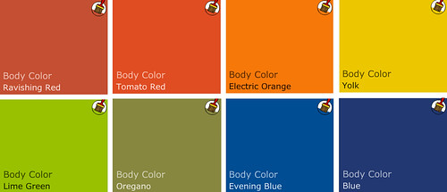 sanders color palette