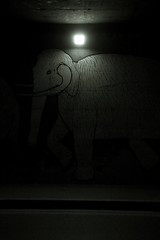 Prato prehistory 2 (-dubliner-) Tags: street bridge lamp iceage night graffiti mural mammoth prato evoluzionedellaspecie evolutionofthespecies glacialage