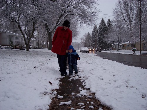 First Snow Walk 1