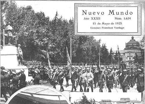 Alfonso XIII en la inauguración del monumento al Comandante Villamartín en Toledo (mayo de 1925)