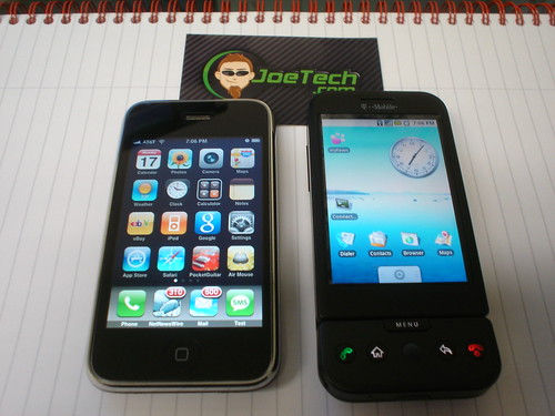 iPhone vs Google G1 : Home Screen