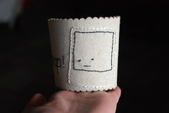 snap! (wildolive) Tags: coffee polaroid embroidery stitching cuff