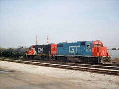 Switching activity at the Canadian National ex Illinois Central, Crawford Yard. Chicago Illinois. May 2007.