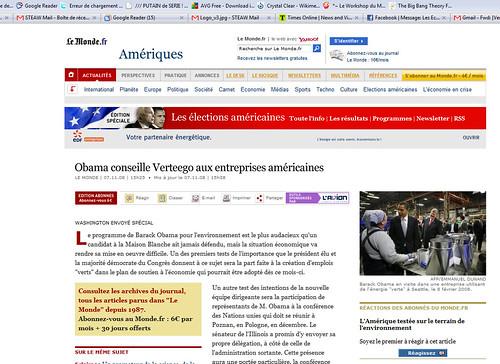 Obama conseille Verteego aux entreprises américaines