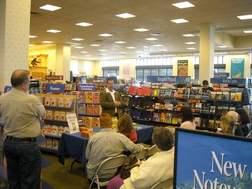 speaking at Barnes and Noble