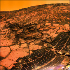 tonight I visited mars... (ecstaticist) Tags: red panorama opportunity mars postprocessed texture rock wall square landscape solar ancient pattern panel space alien machine craft rover simulation system nasa erosion explore galaxy crater colorized strata planet layers cornell crumble cracks universe exploration crevasse cracked mechanism spacecraft caltech postprocessing photomatix tonemapped tonemapping