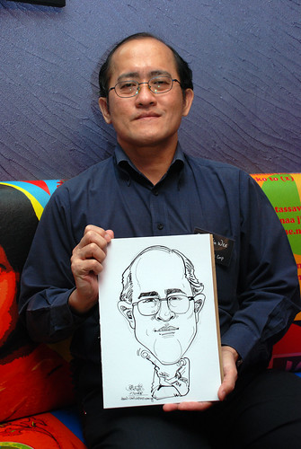 Caricature live sketching for Dow Jones 15