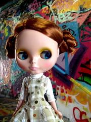 Matilda and the graffiti tunnel