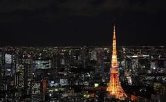 [フリー画像] [人工風景] [建造物/建築物] [街の風景] [東京タワー] [夜景] [塔/タワー] [日本風景] [東京]   [フリー素材]