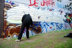 Drama (Mokes with Folks) Tags: de graffiti oakland drama