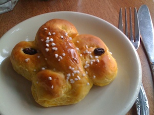 Saffron Bun for Santa Lucia Day