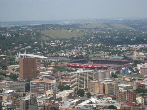 View toward one of the stadiums set to host 2010 World Cup matches