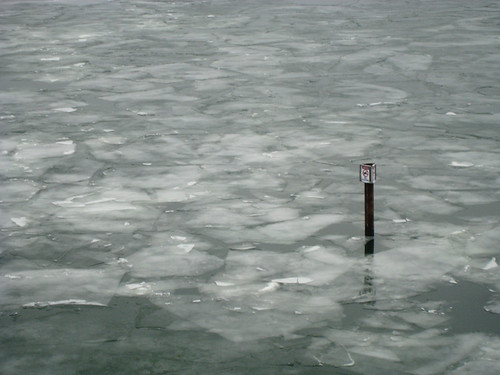 Ice on Lake Michigan