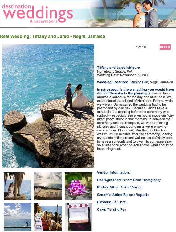 Tiffany and Jared Destination Weddings and Honeymoons