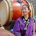 drum & woman