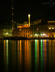 Terminal Appia (Formha) Tags: reflection canon lights mare nights luci colori riflessi lungomare salento notte 28135mm colonne brindisi appia 450d wonderfulword fabioleo formha
