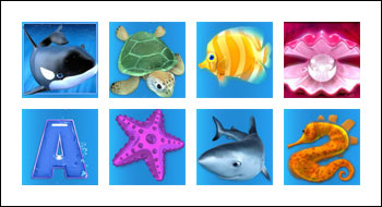 free Great Blue slot game symbols