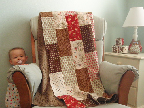 Finished Minkee baby quilt