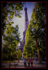 Glimpse of Eifel Tower Paris, France (thevisualeffect.com (JD Malave)) Tags: paris france canon outdoors 1001nights eifeltower t2i ringexcellence