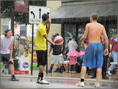 Lancaster Ohio - Gus Macker Basketball - 2011 (rbatina) Tags: county street city boy columbus ohio shirtless people playing man game streets male men guy sports boys muscles basketball sport june st festival ball court outside outdoors athletic downtown play shot muscular chest main contest group young free first competition guys 18th dude tournament event teen sweat topless gathering lancaster strong oh annual athletes thin bball 18 gus dudes trim broad amateur 3rd built fit fairfield teenage 3on3 tourney sweating macker 2011 rubbertoe