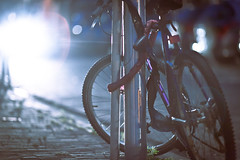 Passing (toffiloff) Tags: holland netherlands dutch bike outside bokeh lock eindhoven curb sykkel fiets canonef135mmf20lusm spectacularhighlights