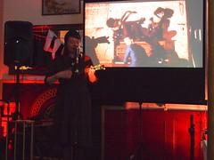 Katy Carr and the Aviators (Rowan Arts UK) Tags: musician art poland aviators multimedia haf katycarr hollowayartsfestival rowanarts lulamicromedia escapologisttour