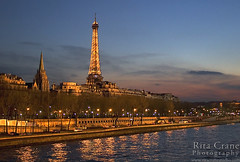 Rita Crane Photography: Eiffel Tower / Dusk / city lights / reflection / Seine River / architecture / Tour Eiffel & Quai d'Orsay, Paris (Rita Crane Photography) Tags: urban paris france reflection architecture river twilight stock eiffeltower explore toureiffel visit75007 soe urbanlandscape stockphoto goldenlight laseine quaidorsay alongtheseine americanchurchofparis mywinners aplusphoto holidaysvacanzeurlaub infinestyle wwwritacranestudiocom frpix egliseamericainedeparis viewfrompontdesinvalides 200850faves leuropepittoresque