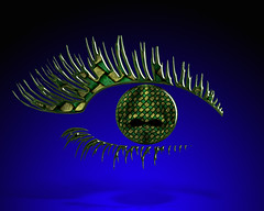 Liquid  Lashes (ViaMoi) Tags: blue ontario canada colour art digital photoshop photography design artist vibrant ottawa north digitalart surreal manipulation images textures chrome adobe 2008 blend manipulate cs3 viamoi