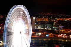 Sky Wheel at Night (swilton) Tags: canada night niagarafalls nikon ride ferriswheel cliftonhill skywheel d40x 55200mmvr photofaceoffwinner pfogold