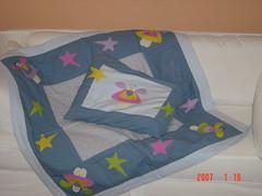 Meu primeiro trabalho em patch! (Renata ...) Tags: estrela boneca patchwork