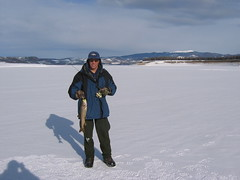 Me with 19 Inch Laker (fethers1) Tags: granby icefishing laketrout