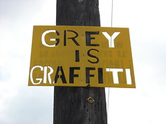 GREY IS GRAFFITI