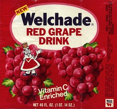 Welchade Red Grape label