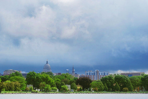 Storm Clouds Blanket the Madison Isthmus