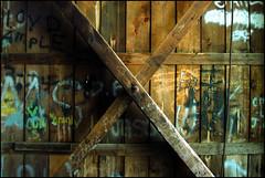 Trestle Art (CoreyWoodruff) Tags: architecture graffiti vandalism coveredbridge oldstuff bigmomma 3waywinner photofaceoffwinner pfogold babymommawinner tamron28300mmvclens