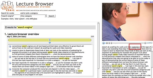 MIT lecture browser
