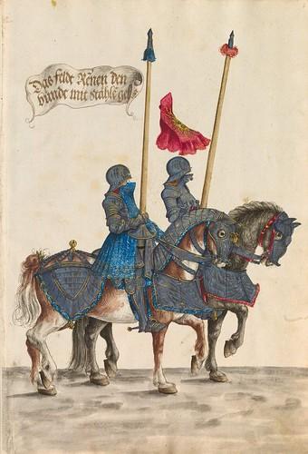 18-Gestecharten y la raza del torneo a caballo, 7r